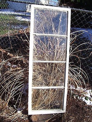 Vintage Wood Window Chippy Salvage 4 Pane Glass picture frame  white wedding