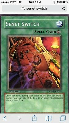 Yugioh 3x Senet Switch - CDIP-EN048 NM/M 1st Edition