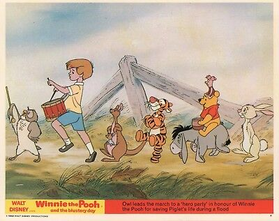 WINNIE THE POOH and the BLUSTERY DAY lobby card- Walt Disney