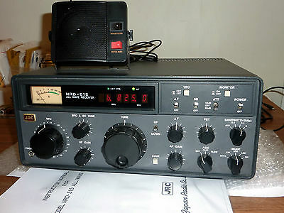 JRC NRD-515 0-30MHZ HF Communications Receiver. Comes with Speaker and Manual