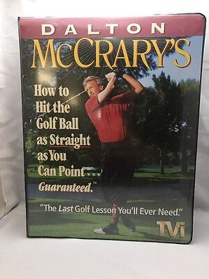 GOLF TRAINING AID 4-VHS Tapes & Workbook Hit The Ball Straight Dalton McCrary