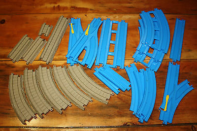 Lot of track -Thomas the Tank Engine Trackmaster/Plarail, Blue and Tan Pieces