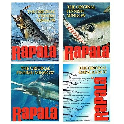 Vintage Fishing RAPALA Sticker Label Decal (Set of 4 Designs) - Limited Edition
