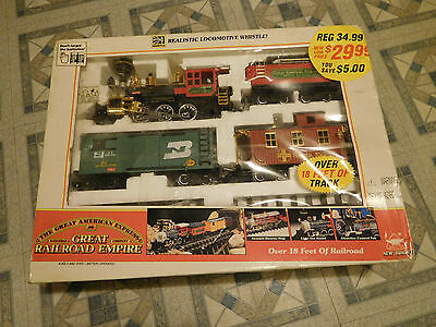 1993 New Bright The Great American Express Great Railroad Empire 185 Train Set