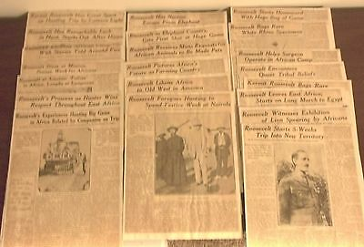 1924 St. Louis Daily Newspaper Series Theodore Roosevelt  and Friend Jungle Trip