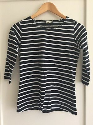 Armor Lux Navy And White 3/4 Sleeve T-shirt Size 0