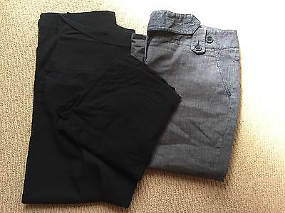 Two Maternity Pants, One Pair 3/4 Pants. All size Large/16
