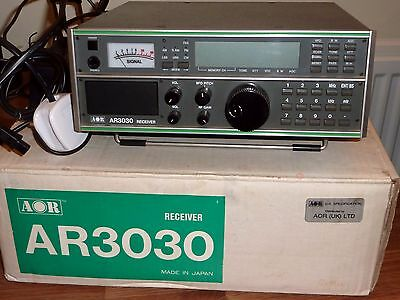 AOR AR3030  30KHz TO 30MHz Communications Receiver. Boxed, AOR Power Supply, VGC