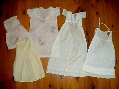Antique 1880's - 1920's Doll's Dresses in need of restoring.