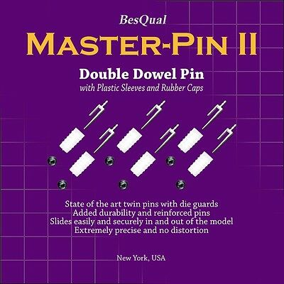Master Pin II Double Dowel Pin with Plastic Sleeve Besqual 1000/Box