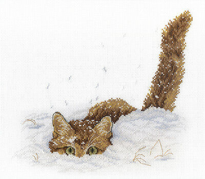 "Counted Cross Stitch Kit MP Studio PK-500 /""Barefoot in the snow/"""