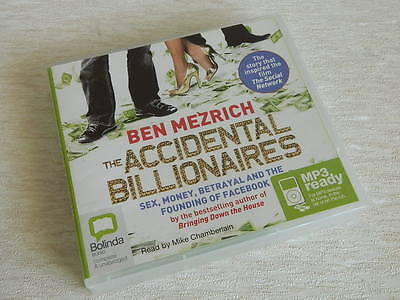 The Accidental Billionaires by Ben Mezrich CD Audio Book Unabridged MP3 Ready