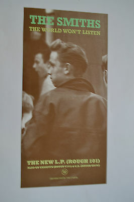 The Smiths The World Wont Listen poster 12 x 24 Morrissey