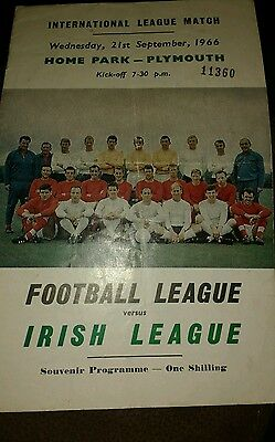 Football League v Irish League season 1966-1967