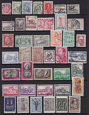 Greece Wide Ranging Early Stamp Selection  2 SCANS (Gre05021)