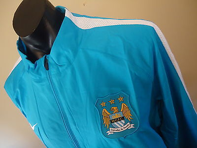 Manchester City Official Licensed Squad Sideline Jacket Mens Xxl New