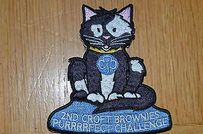 Girl Guide Purrrrfect Challenge Woven Badge  - Guiding