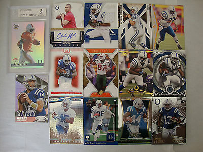 Indianapolis Colts lot – RC BGS, RC auto, worn – Manning, Luck etc