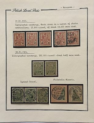 Poland Polish Local Posts 1915 Mlh*/** Used For Description Look At The Picture