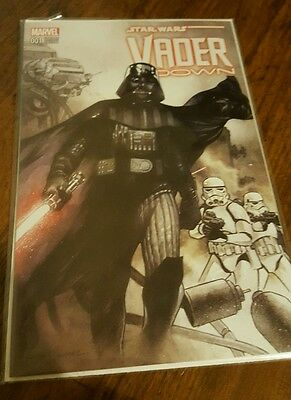 Star wars vader down 1 comic book from the bam box.
