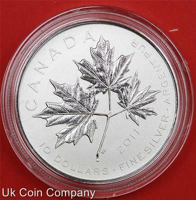 2011 Canada Forever Maple Leaf Fine Silver Bu $10 Ten Dollar Coin Boxed With Coa