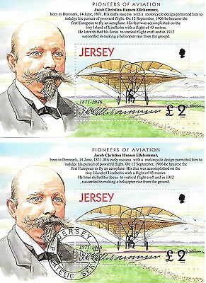 Jersey. 20th. Century Aviation. M.S. Mint/Used.