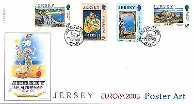 Jersey. FDC/Mint/Used. Europa. Poster Art. 11/03/2003.