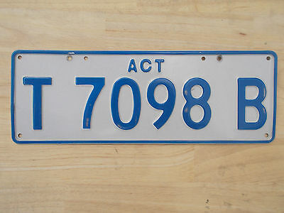 License plate Number plate ACT TRAILER PLATE