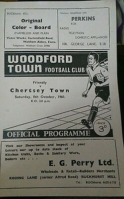 Woodford Town v Chertsey Town Friendly season 1960-1961