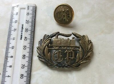 Portuguese National Railway (CP) Cap Badge And Button