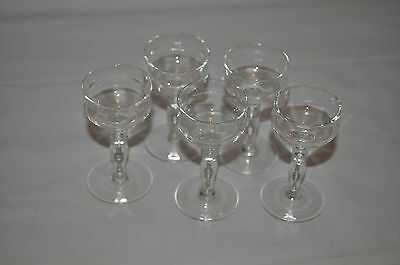 5 X Port/sherry Glasses Approx Size: 3""