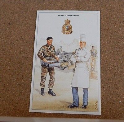 Military Uniforms postcards,Army Catering  Corps unposted