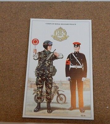 Military Uniforms postcards,Corps Of Royal military Police  unposted