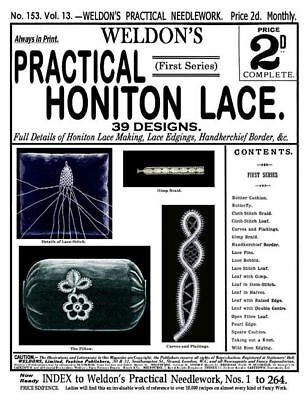 Weldon's 2D #153 c.1897 Popular Vintage Instructions in Honiton Pillow Lace