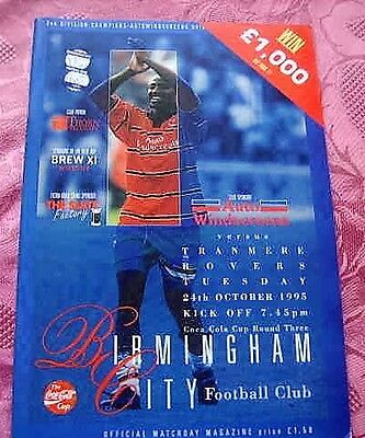 Birmingham City  V  Tranmere Rovers 1995-96 League Cup