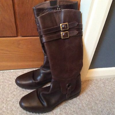 Russell & Bromley Girls Brown Leather Boots Size 35
