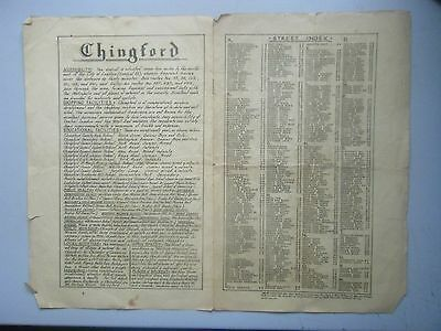 Early street Map Chingford