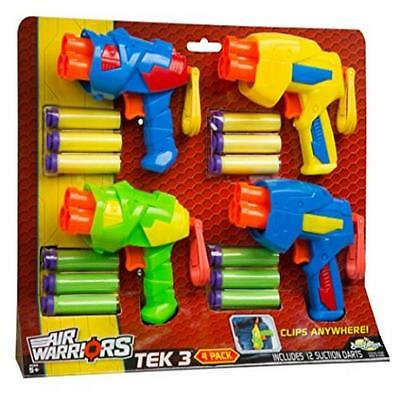 Buzz Bee Toys Air Warriors Tek 3 Blaster Four Pack Toy Play Soft MYTODDLER New