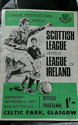 Scottish League v League of Ireland season 1970-1971