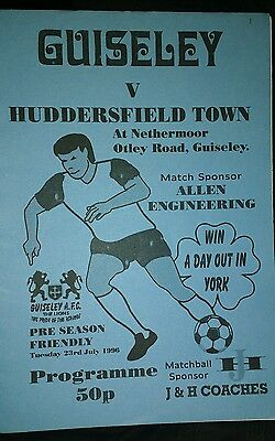 Guiseley v Huddersfield Town Friendly season 1996-1997