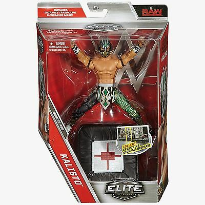 Kalisto with Entrance Trampoline and  Mask - Elite Series 48 - WWE Action Figure