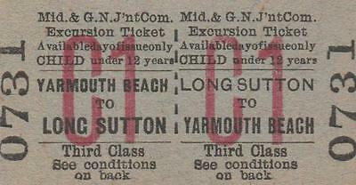 Midland & Great Northern JOINT Railway Ticket LONG SUTTON 0731