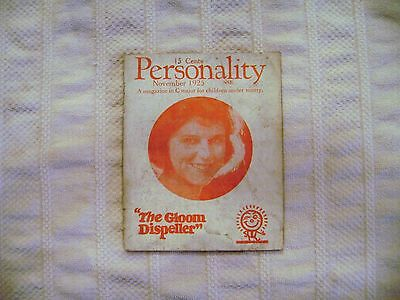 """Vintage """"Personality"""" Booklet 1900's Women's Self Help Advice Uplifting"""