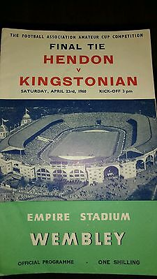 Hendon v Kingstonian FAAC Final season 1959-1960