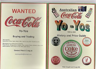 Australian Coca Cola Yo Yo History And Price Guide 1958-2003 Mint