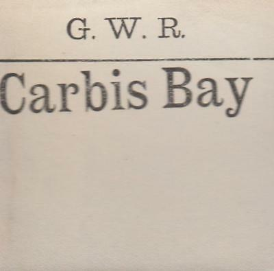 Great Western Railway Luggage Label CARBIS BAY