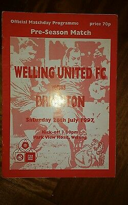 Welling United v Brighton & Hove Albion Friendly season 1997-1998