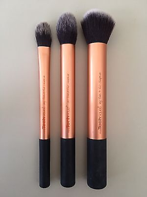 Real Techniques - 3 Brush Makeup Set - Brand New