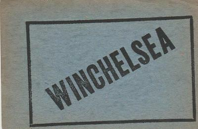 South Eastern & Chatham Railway Luggage Label WINCHELSEA