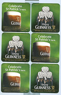6 Guinness Sottobicchieri identico Giapponese  Export Japon N°01